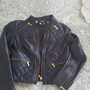 MK navy leather jacket